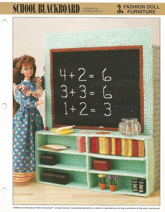Plastic Canvas Pattern Plastic Canvas Barbie Furniture School