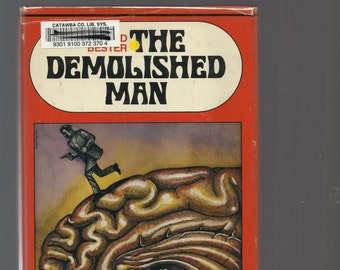 Vintage Science Fiction, Alfred Bester,The Demolished Man, 1953 Hardcover With Dust Jacket, Vintage Sound Book Club Edition