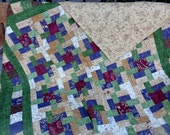 Enchanted Pond Lap Throw Patchwork Quilt