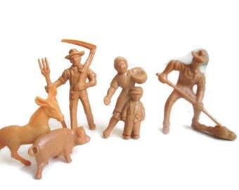 Toy Farmer Figurines Plastic Action Figures