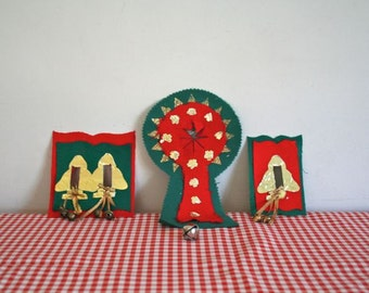 50% OFF...vintage 50s/60s christmas decorations - COVER THEM light switch & door covers -set of 3