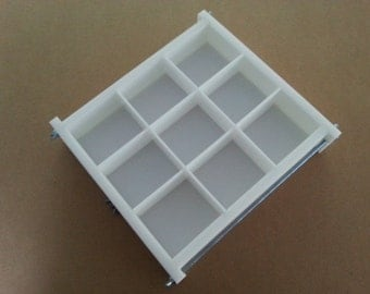 HDPE Soap Mold, 9 BAR, 2Lb Y-LINE Tray Slab Mold Silicone Candle Casting & Making