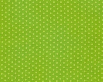 Spot On Lime Mini Dots on From Robert Kaufman