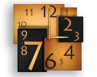 Squares Modern Wall Clock Design
