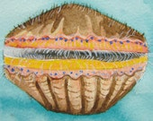 "5x7 Digital Print of Original Watercolor: ""Scallop"""