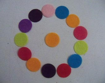 Round Felt Pads Sew on Appliques 25mm Brooch Backing for Alligator Clips