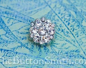 Rhinestone Button - Joselyn - (18mm) RS-063 - 5 piece set