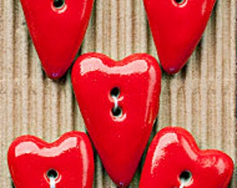 5 Funky Red Hearts