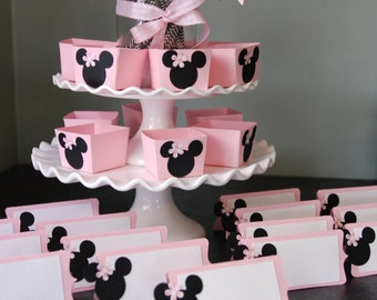 Minnie Mouse Party, Minnie Mouse Birthday, Minnie Mouse Baby Shower, Place Cards, Candy Cups