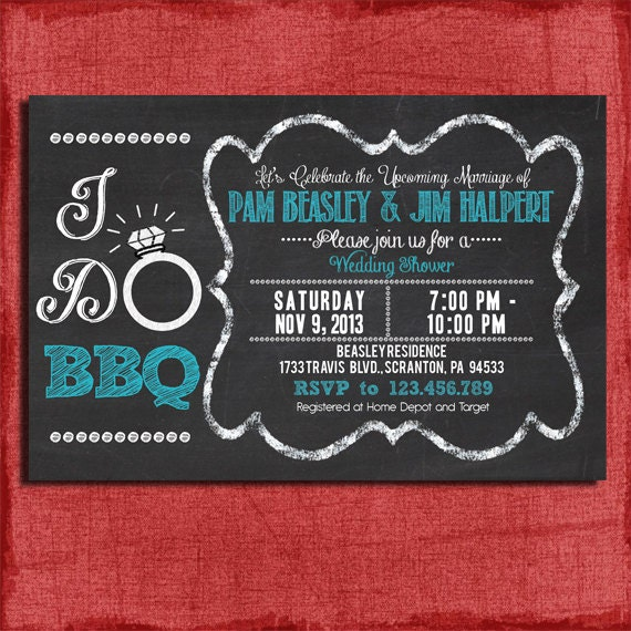 Printable i do bbq barbecue couples coed wedding for Etsy engagement party invites