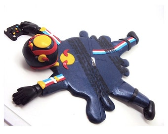 Mark Webber Coaster Red Bull Formula 1 In Polymer Clay