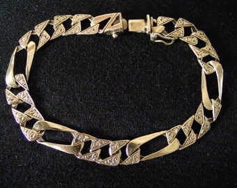 14k gold bracelet vintage jewelry,COUPON code HAPPY1 for 10%