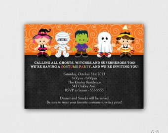 Printable Halloween Costume Party Invitation