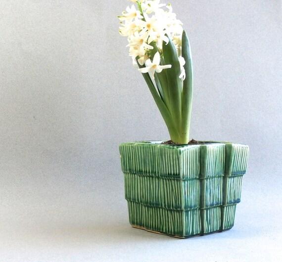 Flower Baskets Usa : Vintage mccoy pottery planter green by dairyfarmantiques