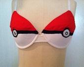 Made to Order Pokemon Pokeball Pokebra Custom Bra