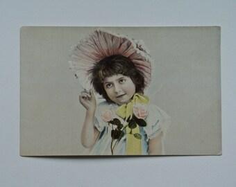 Easter Bonnet Postcard.