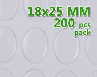200pcs 18x25mm Oval Clear Epoxy Stickers,epoxy resin,epoxy Domes,thick about 1.3mm,epoxy cabochon,transparent-C1904