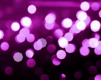 bokeh photography fine art abstract photography 8x10 8x12 sparkle photography lights pink purple magenta wall art bedroom decor dorm room