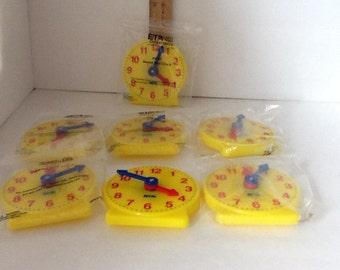 Learning Clocks ,Seven  ,Children's Geared Mini Clocks by ETA