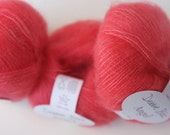 Angel kid mohair and silk yarn by Debbie Bliss, Coral, color 13, CLEARANCE SALE