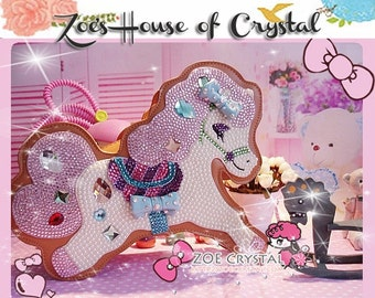 Stylish and Fashionable Pony bag with Crystal and Pearl