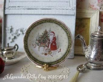 Winter Wonderland Plate for Dollhouse
