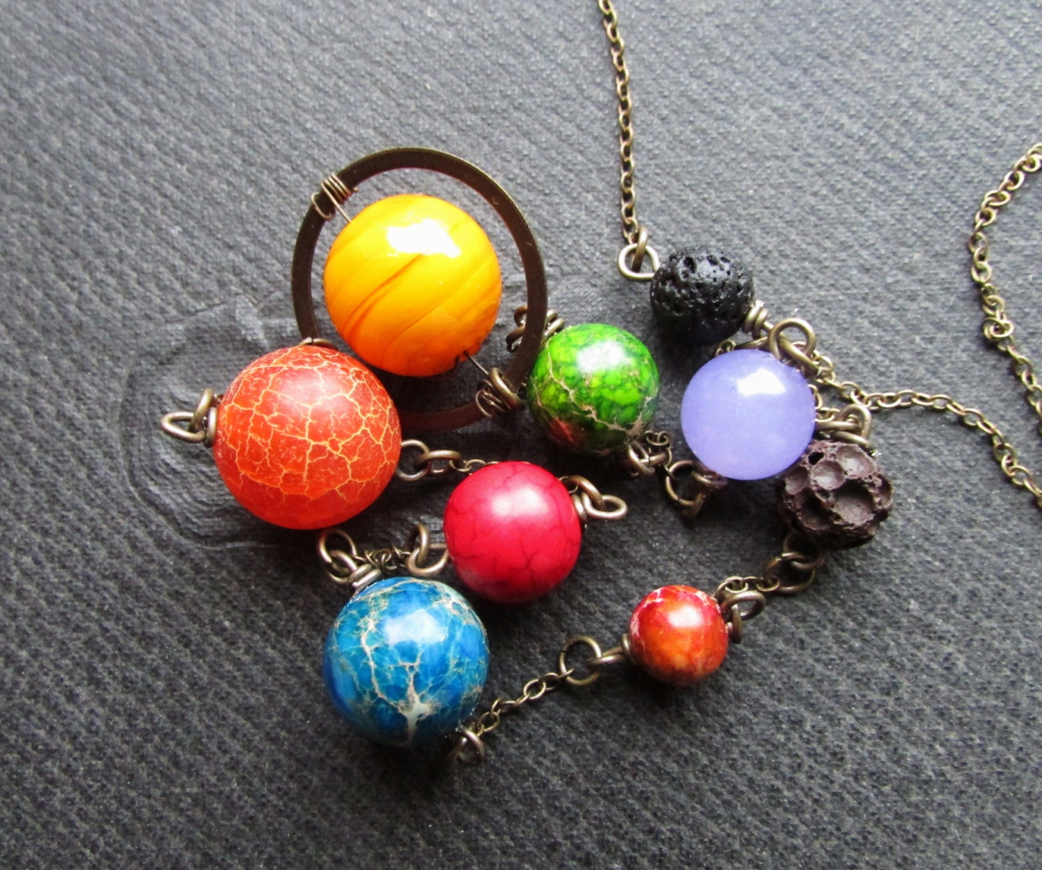 Planet Necklace Planets Necklace Galaxy Necklace Galaxy
