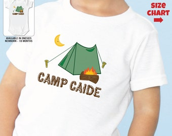 Camper Shirt or Bodysuit - Personalized Camp Shirt - Camp Birthday Shirt