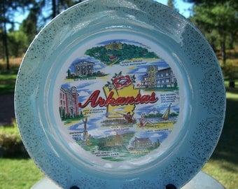 Vntg Arkansas Collectable Souvenir Decorative Plate