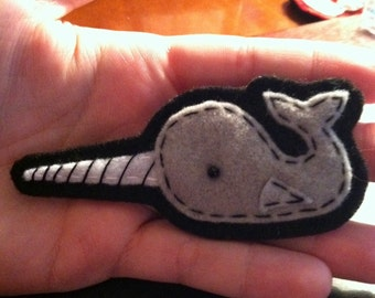 Little Felt Narwhal Pin