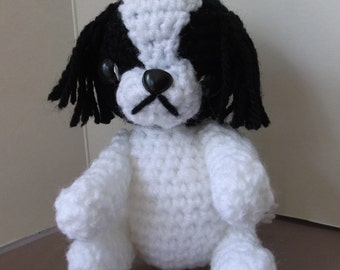 japanese chin dog  crochet amigurumi collectable