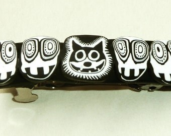 Felix the Cat  and his Hallucination Five Faces Barrette