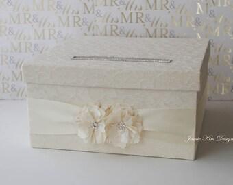Laced Wedding Card Box, Money Box Card Holder- Custom Card Box