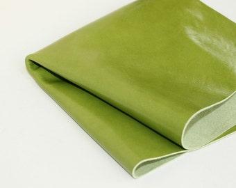 Green  Genuine Leather