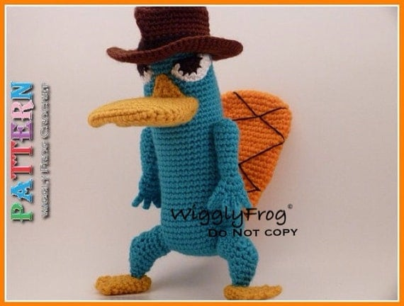 "Perry the Platypus (from Phineas and Ferb) - Amigurumi Crochet PATTERN ""PDF file"""