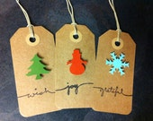 Assorted Holiday Gift Tags (Six)