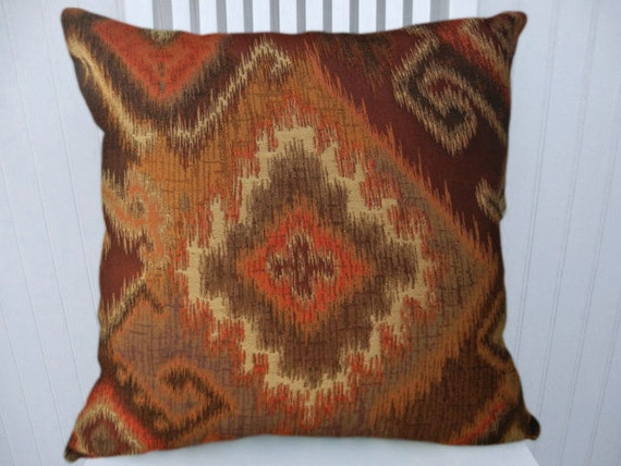 Orange Kilim Pillow Cover Kilim Style by CodyandCooperDesigns