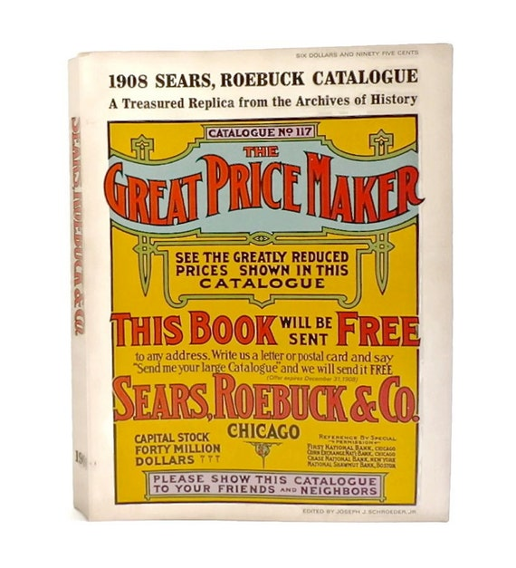 5 pages from 1908 Sears Catalog #117 Fishing tackle equipment