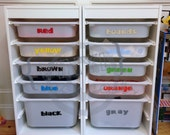10 Color labels - Lego organizing - Vinyl Wall Art