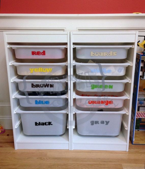 10 color labels lego organizing vinyl wall art. Black Bedroom Furniture Sets. Home Design Ideas