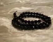 Dark Amethyst Russican Faceted Round Gemstone Beads   6MM