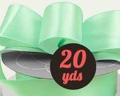 """Satin Mint Green Ribbon - 7/8"""" wide at 20 yards"""