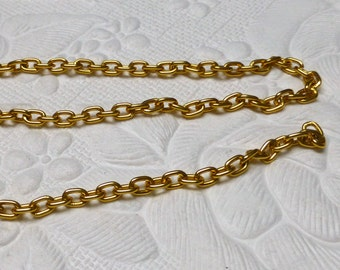 Chain by the Yard. Goldtone Chain. 4mm x 6mm. 36 inch (3 Feet).