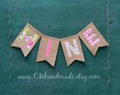 MINE Valentine's Day burlap banner