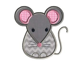 Little Mouse Applique Machine Embroidery Design-INSTANT DOWNLOAD