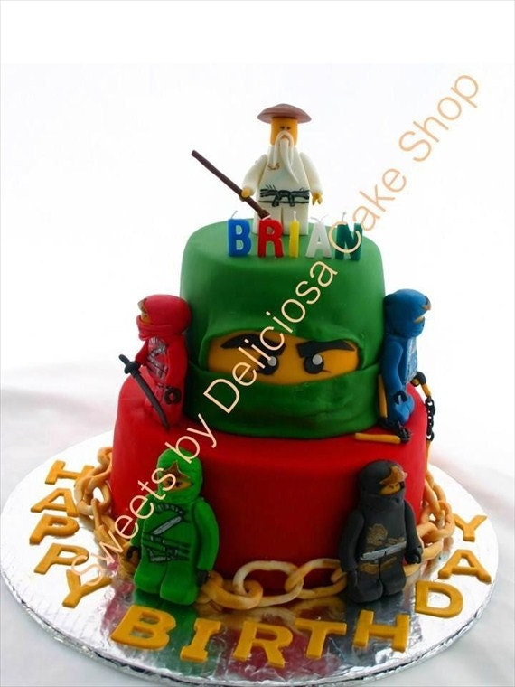 Edible lego ninjago figurines by sweetsbydeliciosa on Etsy