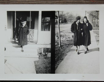 "Vintage Photo ""Fancy Coats"", Photography, Paper Ephemera, Snapshot, Old Photo, Collectibles 1382"