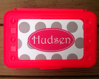 Personalized Monogrammed Pencil Box- Desogn Your Own