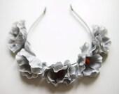 Grey anemones  flowercrown, statement flower crown headband // wedding bridal headpiece, quirky, lana del rey, boho, summer, festival
