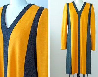 SALE 1980s Dress Carolina Herrera / 80s Dress // The Cityscape Dress
